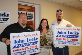 John Locke Painting Receives Small Business of the Month Award